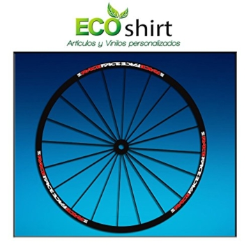 Ecoshirt OS-SK5X-FZM8 Aufkleber Stickers Felge Rim Raceface Am51 Bike MTB Downhill, Rot Weiß 29 Zoll - 1