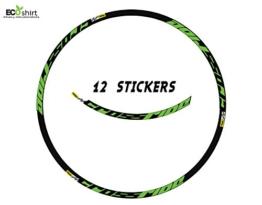 "Ecoshirt PK-7BY1-MB2R Aufkleber Felge Mavic Crossride 27,5"" Am15 B Adesivi Decal Aufkleber MTB Stickers Bike, Grün 27.5"" - 1"