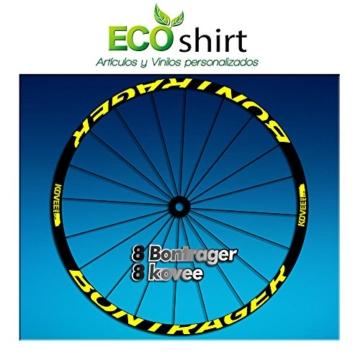 Ecoshirt RU-NKEI-UBQP Aufkleber Stickers Bontrager Kovee Pro TLR Am206 Wheel Aufkleber Felge Rim, Gelb -