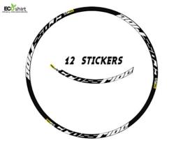"Ecoshirt WP-K9Z5-CJCU Aufkleber Felge Mavic Crossride 27,5"" Am15 B Adesivi Decal Aufkleber MTB Stickers Bike, weiß 27.5"" - 1"