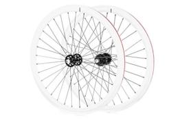 FabricBike - Set Fahrrad Felgen 700X25 C, Flip Flop Hubs, Fixed Gear, Single Speed (White) - 1