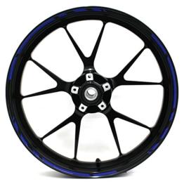 """Felgenrandaufkleber Speed Design 12 Teilig Komplett-Set -Finest Folia passend für 17 Zoll & 16"""" 18"""" 19"""" Felgen Motorrad Auto Fahrrad (Blau) - 1"""