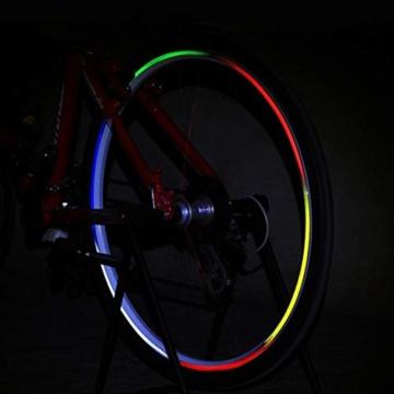 Guang-T Fahrrad-Aufkleber, reflektierend, für Mountainbikes, Felgen-Aufkleber, 48 Streifen, 6 Farben - 2
