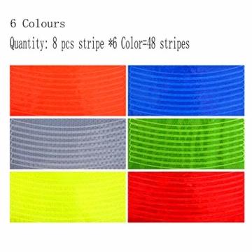 Guang-T Fahrrad-Aufkleber, reflektierend, für Mountainbikes, Felgen-Aufkleber, 48 Streifen, 6 Farben - 3