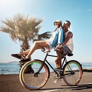 Guang-T Fahrrad-Aufkleber, reflektierend, für Mountainbikes, Felgen-Aufkleber, 48 Streifen, 6 Farben - 5