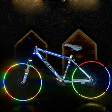 Guang-T Fahrrad-Aufkleber, reflektierend, für Mountainbikes, Felgen-Aufkleber, 48 Streifen, 6 Farben - 7