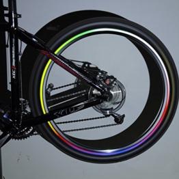 Inovey 10 X Felgen Bike Fahrrad Leuchtende Reflektierende Aufkleber - 1