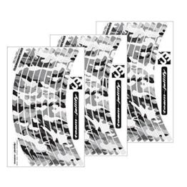 """JOllify Felgenrandaufkleber Laufrad LRS Satz Camouflage """"The Invisible Man"""" für Dein Fahrrad, MTB Sticker - .SCHWARZ Weiss - 1"""