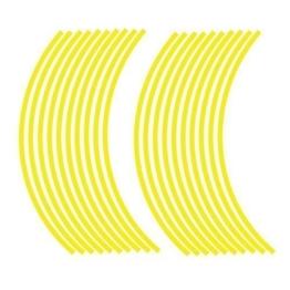 JOllify NEON Felgenrandaufkleber für dein Fahrrad, MTB, Downhill, Freeride, Dirt, Fully, Hardtail, usw. - neon gelb - 1