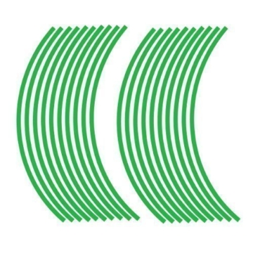 JOllify REFLEKTIERENDE Felgenrandaufkleber für Dein Fahrrad, MTB, Downhill, Freeride, Dirt, Fully, Hardtail, usw. - grün - 1