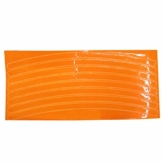 Louyihon-Fluoreszierende MTB Fahrrad Aufkleber Radfahren Felge Reflektierende Aufkleber Aufkleber Auto Aufkleber Audi Motorrad(Blau,Grün,Orange,Rot,Silber,Gelb) (Orange) - 1