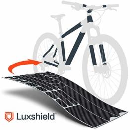 Luxshield Fahrrad Lackschutzfolie für Mountainbike, BMX, Rennrad, Trekkingrad etc. - 21-teiliges Rahmen-Set gegen Steinschlag - Carbon Optik & selbstklebend - 1