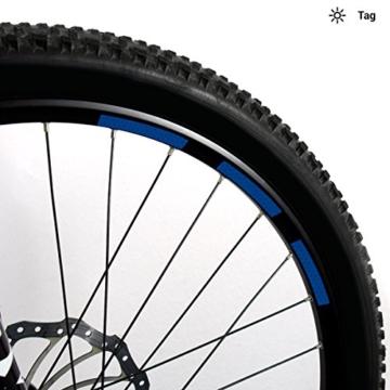 Motoking Fahrrad-Reflektorenaufkleber mit Waben-Reflex-Optik - Blau - 22 Aufkleber im Set - Breite: 10 mm - reflektierende Felgenaufkleber für Mountainbike-, Fahrradfelgen & mehr - 2