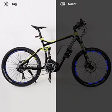 Motoking Fahrrad-Reflektorenaufkleber mit Waben-Reflex-Optik - Blau - 22 Aufkleber im Set - Breite: 10 mm - reflektierende Felgenaufkleber für Mountainbike-, Fahrradfelgen & mehr - 3