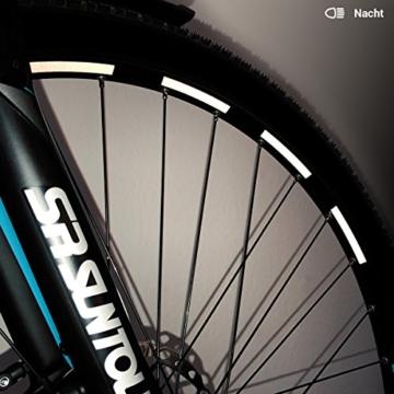 Motoking Fahrrad-Reflektorenaufkleber - Schwarz - 26 Aufkleber im Set - Breite: 7 mm - reflektierende Felgenaufkleber für Trekkingbike-, Fahrradfelgen & mehr - 2