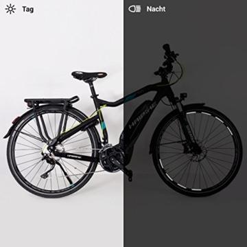Motoking Fahrrad-Reflektorenaufkleber - Schwarz - 26 Aufkleber im Set - Breite: 7 mm - reflektierende Felgenaufkleber für Trekkingbike-, Fahrradfelgen & mehr - 3