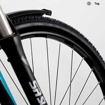 Motoking Fahrrad-Reflektorenaufkleber - Schwarz - 26 Aufkleber im Set - Breite: 7 mm - reflektierende Felgenaufkleber für Trekkingbike-, Fahrradfelgen & mehr - 1