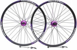 Mountainbike-Felgen, 66 cm, und Aufkleber, nur für Scheibenbremse, Kasette mit 7, 8, 9, 10 Zahnkränzen, Redek XC doppelwandige Scheibenfelgen (66 cm vorne + hinten), Violett - 1