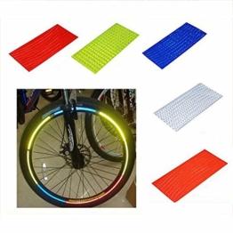Nrpfell Fahrrad Reflektor Fluoreszierende MTB Fahrrad Aufkleber Radfahren Felge Reflektierende Aufkleber Aufkleber Zubehoer Blau - 1