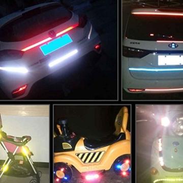 Plzlm Fahrrad-Reflective Klebeband Fahrrad Reflexfolie Sticker Radfahren Felgen Licht sichere Aufkleber - 3