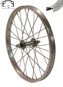 Redondo 16 Zoll Vorderrad Laufrad Fahrrad Kasten Felge Aluminium Silber - 1