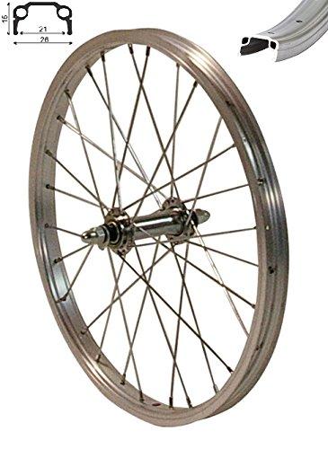 redondo 16 zoll vorderrad laufrad fahrrad kasten felge aluminium silber. Black Bedroom Furniture Sets. Home Design Ideas
