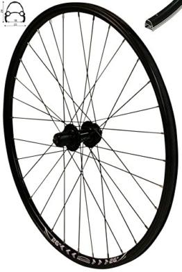 Redondo 26 Zoll Hinterrad Laufrad Fahrrad V-Profil Felge Schwarz 6-Loch Disc - 1