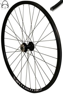 Redondo 26 Zoll Vorderrad Laufrad Fahrrad V-Profil Felge Schwarz 6 Loch Disc - 1