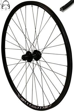 Redondo 28 Zoll Hinterrad Laufrad Fahrrad V-Profil Felge Schwarz 6-Loch Disc - 1