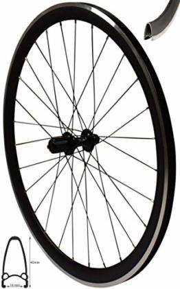 Redondo 28 Zoll Hinterrad Laufrad V-Profil Rennrad Felge 8-11-fach Schwarz - 1