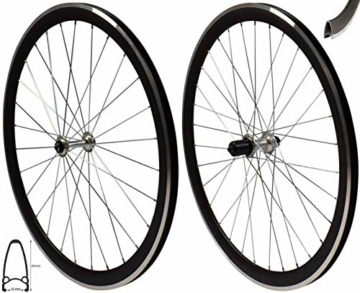 Redondo 28 Zoll Laufrad Set Rennrad V-Profil Felge 8-11-fach Schwarz Silber - 1