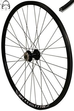 Redondo 28 Zoll Vorderrad Laufrad Fahrrad V-Profil Felge Schwarz 6 Loch Disc - 1