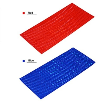 Reflektierende Streifen, 48 Stück, 6 Farben, fluoreszierend, für MTB, Fahrrad, Felge, Aufkleber - 3
