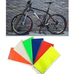 Reflektierende Streifen, 48 Stück, 6 Farben, fluoreszierend, für MTB, Fahrrad, Felge, Aufkleber - 1
