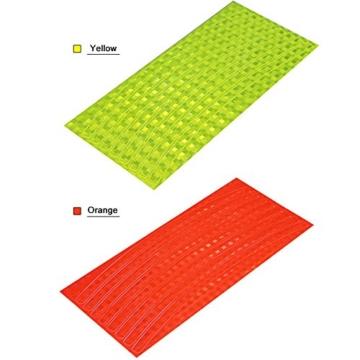 Reflektierende Streifen, 48 Stück, 6 Farben, fluoreszierend, für MTB, Fahrrad, Felge, Aufkleber - 5