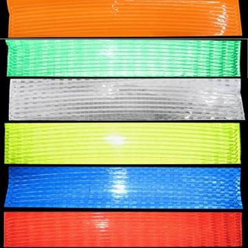 Reflektierende Streifen, 48 Stück, 6 Farben, fluoreszierend, für MTB, Fahrrad, Felge, Aufkleber - 6