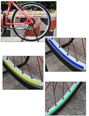 Reflektierende Streifen, 48 Stück, 6 Farben, fluoreszierend, für MTB, Fahrrad, Felge, Aufkleber - 7