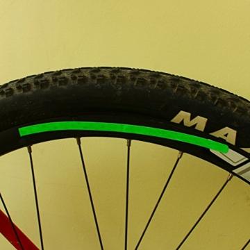 Reflektierende Tape Fluorescent Fahrrad Felge Reflektierende Aufkleber Selbstklebende Sicherheit Warnband für Fahrrad MTB Rennrad - 3