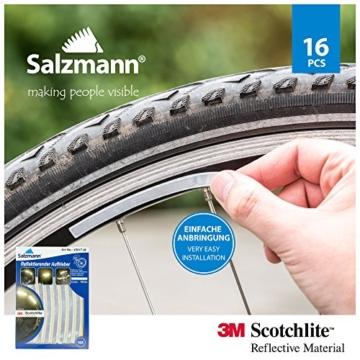 Salzmann 3M Scotchlite Reflektierende Aufkleber für Fahrradfelgen - 5