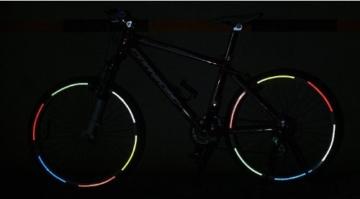 serliy Rad Buntes reflektierendes Fahrrad Felgen Aufkleber Rad Abziehbild Aufkleber Radfahren - 2