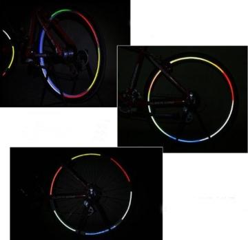 serliy Rad Buntes reflektierendes Fahrrad Felgen Aufkleber Rad Abziehbild Aufkleber Radfahren - 3