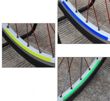 serliy Rad Buntes reflektierendes Fahrrad Felgen Aufkleber Rad Abziehbild Aufkleber Radfahren - 4