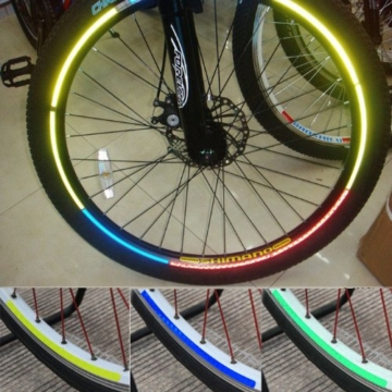 serliy Rad Buntes reflektierendes Fahrrad Felgen Aufkleber Rad Abziehbild Aufkleber Radfahren - 1