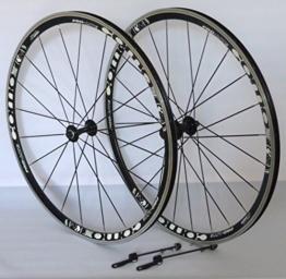 Unbekannt 28 Zoll Fahrrad Laufradsatz Rennrad PRO LITE Hohlkammerfelge schwarz Messerspeichen schwarz - 1
