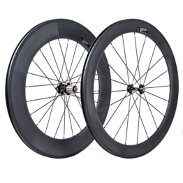 VCYCLE 700C Rennrad Carbon Laufradsatz Vorne 60mm Hinten 88mm Drahtreifen 23mm Breite Shimano oder Sram 8/9/10/11 Speed - 1