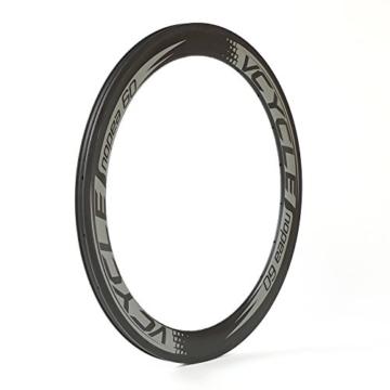 VCYCLE Nopea 700C Rennrad Carbon Laufradsatz Drahtreifen Vorne 60mm Hinten 88mm Shimano oder Sram 8/9/10/11 Speed - 2