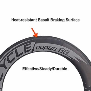 VCYCLE Nopea 700C Rennrad Carbon Laufradsatz Drahtreifen Vorne 60mm Hinten 88mm Shimano oder Sram 8/9/10/11 Speed - 3