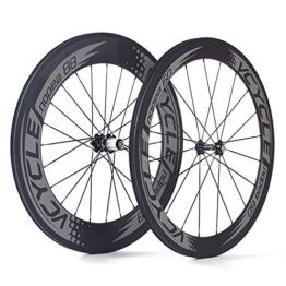 VCYCLE Nopea 700C Rennrad Carbon Laufradsatz Drahtreifen Vorne 60mm Hinten 88mm Shimano oder Sram 8/9/10/11 Speed - 1