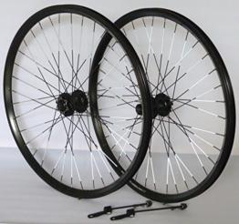 Vuelta 26 Zoll Fahrrad Laufradsatz Dynamic 4 Hohlkammerfelge schwarz Shimano Alivio 475 schwarz NIRO schwarz Reflex - 1