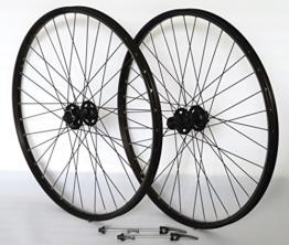 Vuelta 26 Zoll Fahrrad Laufradsatz Pro Disc Hohlkammerfelge schwarz Shimano Deore XT756 schwarz NIRO schwarz - 1